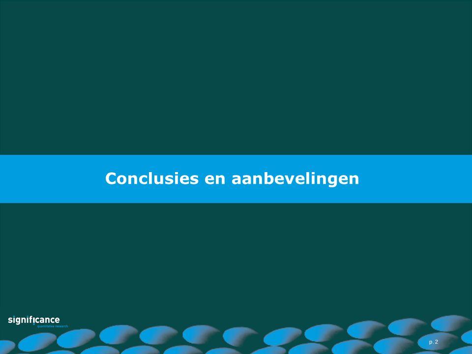 Conclusies en aanbevelingen p. 2