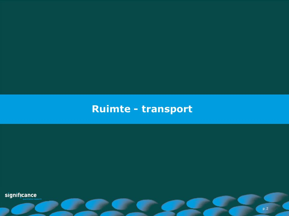 Ruimte - transport p. 2
