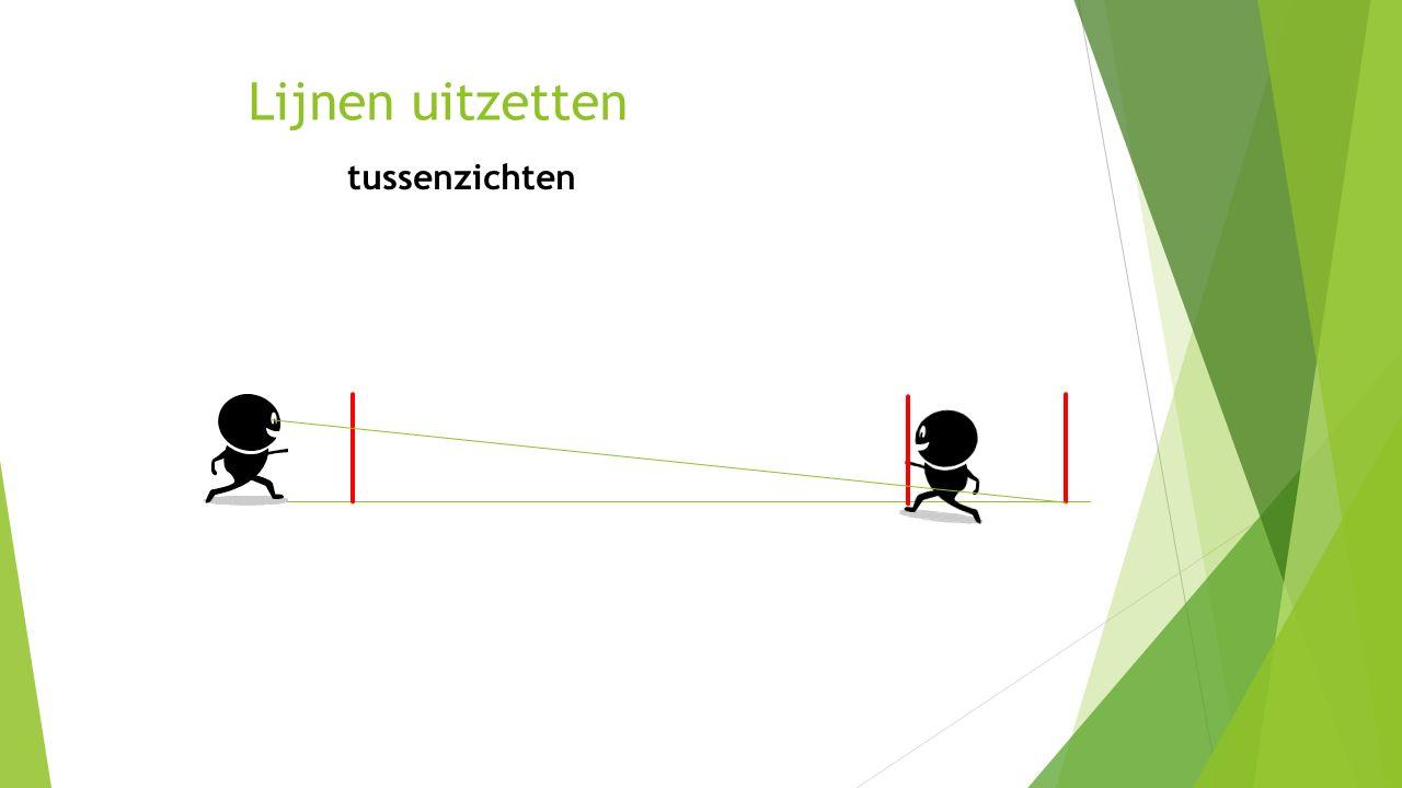 Tekening lezen tekenregels 12.60 m Tekst: dwars op lijn objectlijn meetlijn Pijltje geeft 0-punt aan 5.40 m Eindpunt: Dubbel onderstrepen Tussenpunt: Enkel onderstrepen