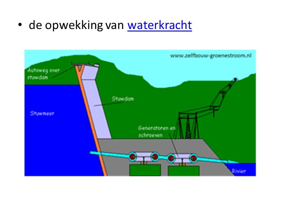 de opwekking van waterkrachtwaterkracht