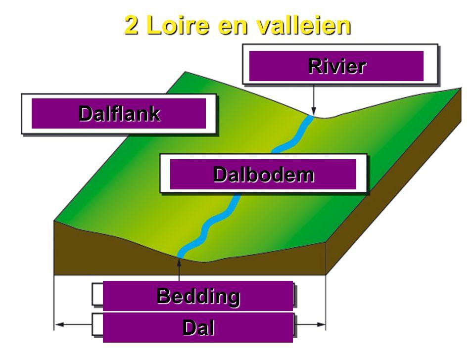 2 Loire en valleien Bedding Dalbodem Rivier Dalflank Dal