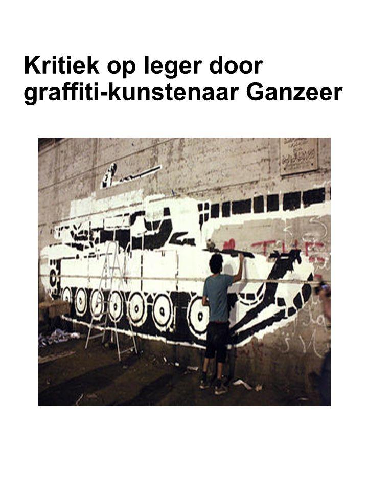 Kritiek op leger door graffiti-kunstenaar Ganzeer