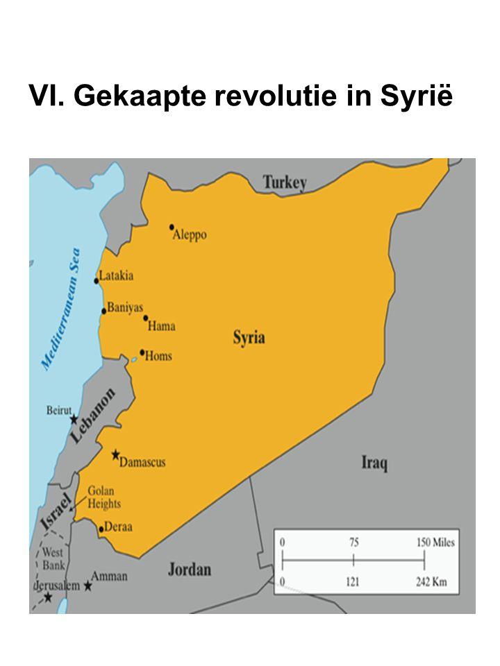 VI. Gekaapte revolutie in Syrië