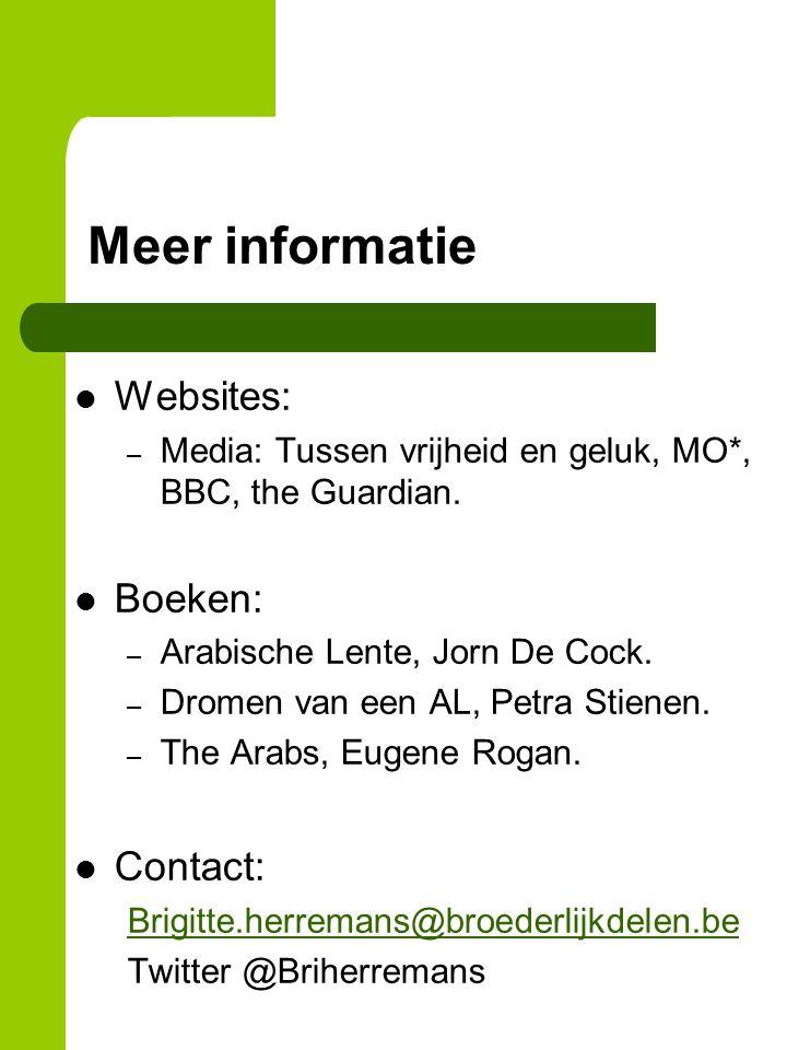 Meer informatie Websites: – Media: Tussen vrijheid en geluk, MO*, BBC, the Guardian.
