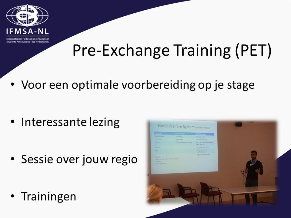 Voor een optimale voorbereiding op je stage Interessante lezing Sessie over jouw regio Trainingen