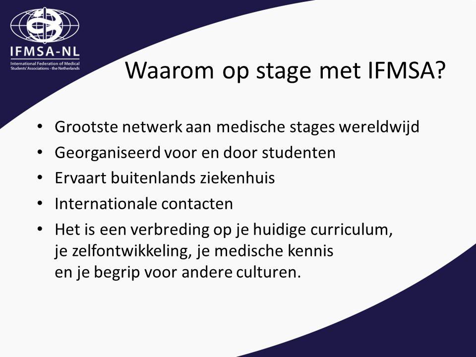 Waarom op stage met IFMSA.
