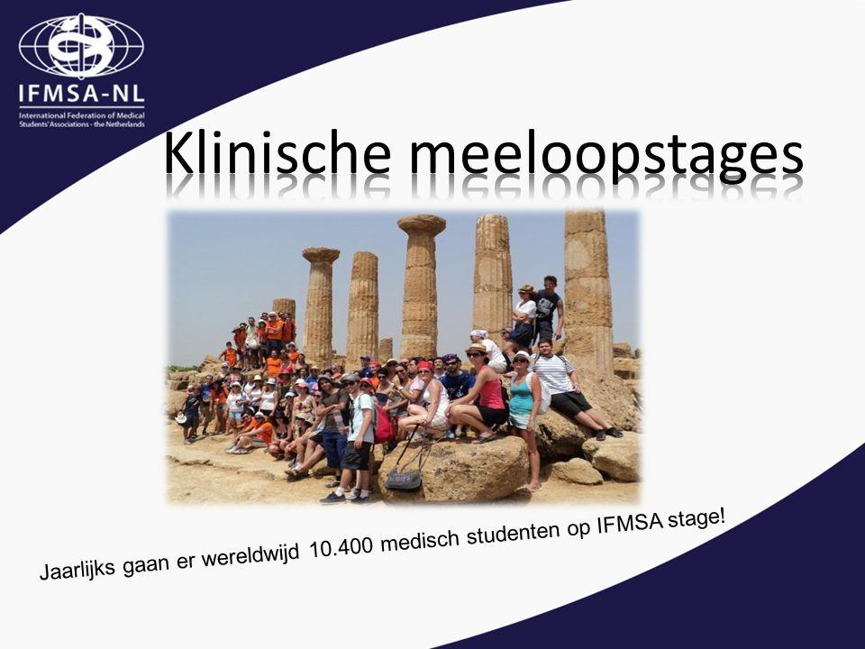 Jaarlijks gaan er wereldwijd 10.400 medisch studenten op IFMSA stage!