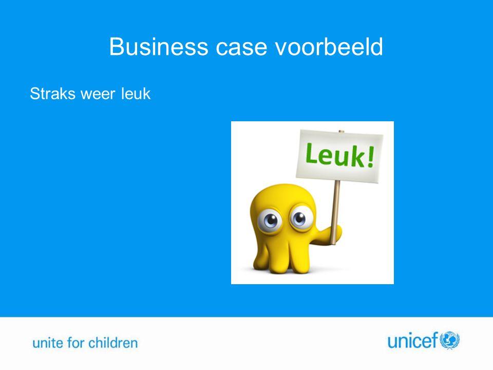 Business case voorbeeld Straks weer leuk