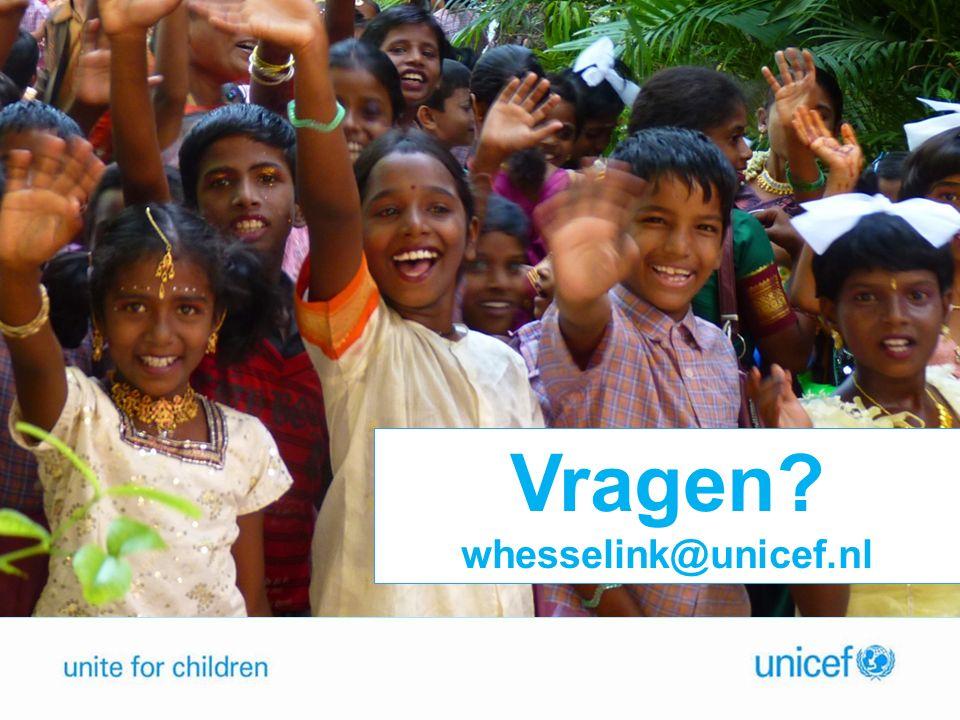 Vragen whesselink@unicef.nl