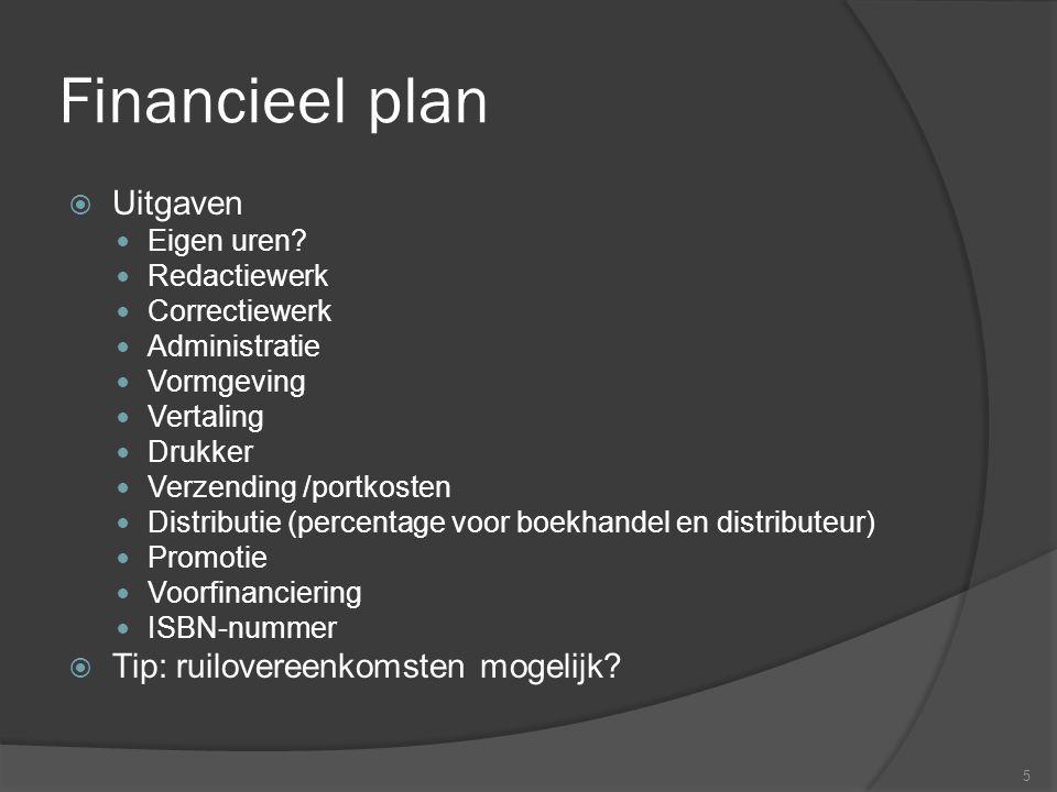 Financieel plan  Uitgaven Eigen uren.