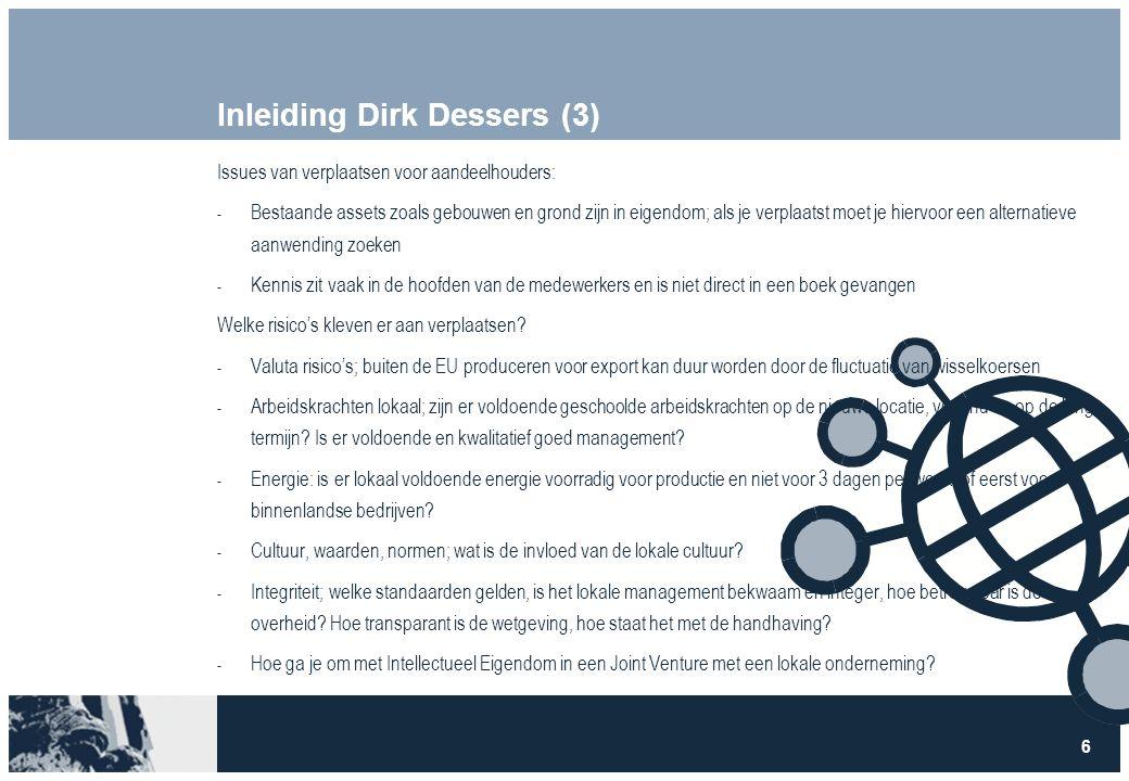 7 Inleiding Dirk Dessers (4) Voor de lange termijn:  Hoe ontwikkelt de arbeidsmarkt zich.