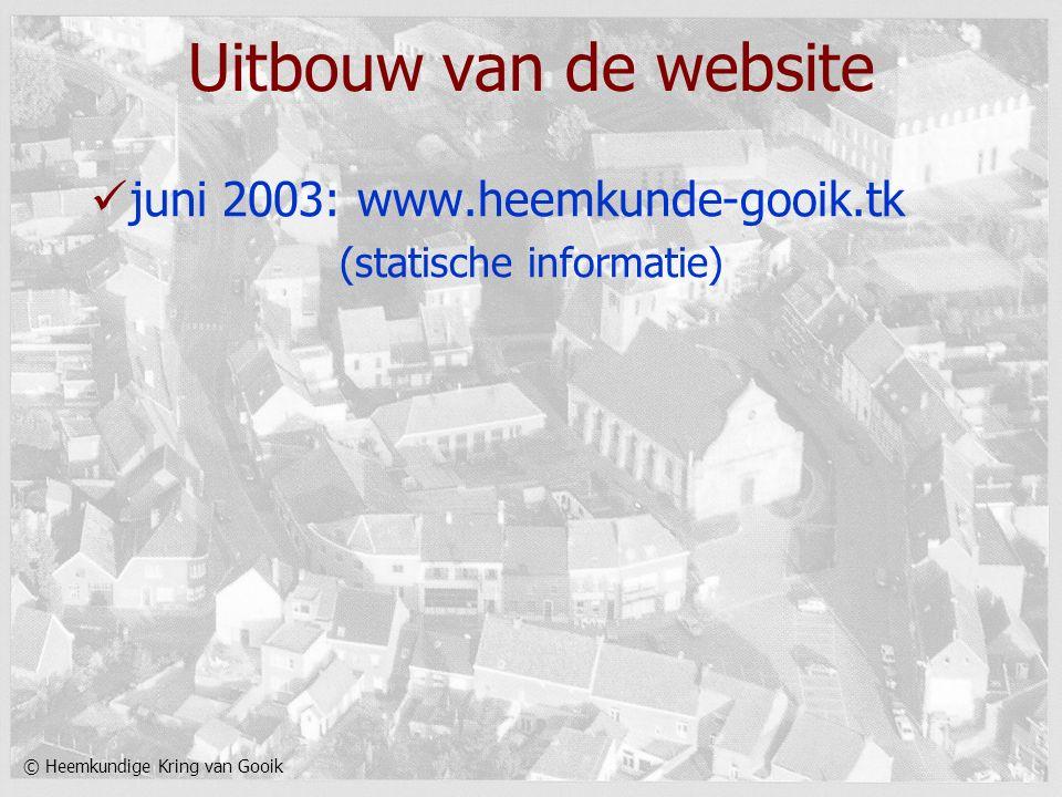 © Heemkundige Kring van Gooik Uitbouw van de website juni 2003: www.heemkunde-gooik.tk (statische informatie)