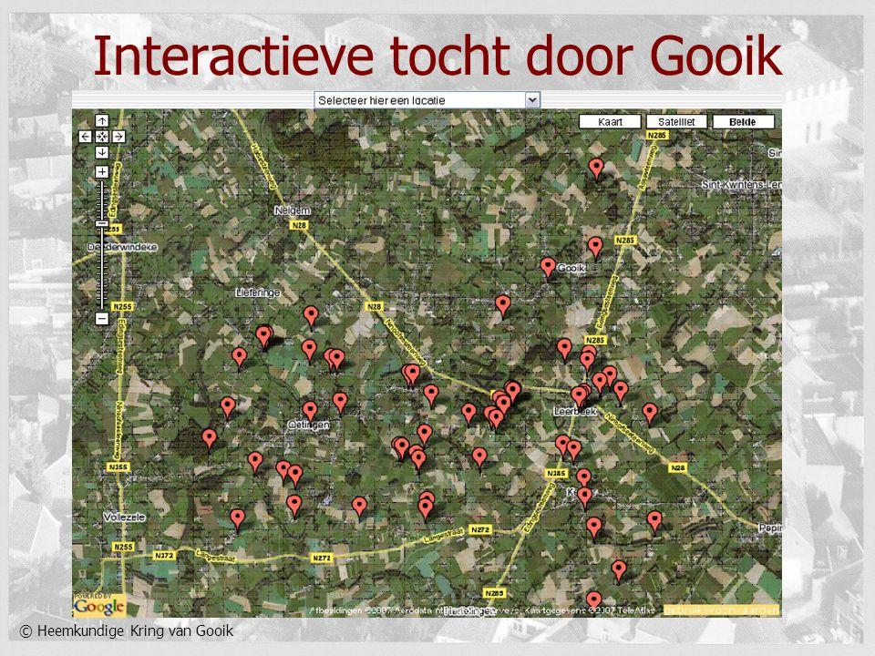 © Heemkundige Kring van Gooik Interactieve tocht door Gooik
