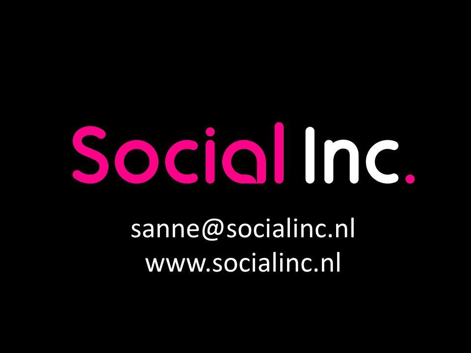 sanne@socialinc.nl www.socialinc.nl