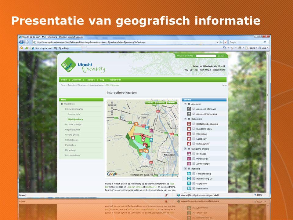 Presentatie van geografisch informatie