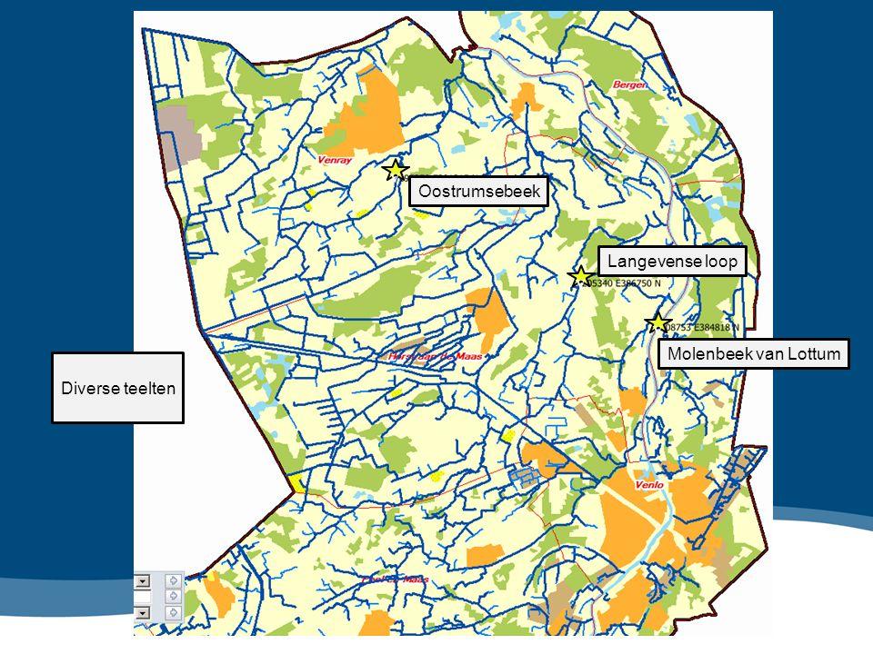v v Molenbeek van Lottum Langevense loop Oostrumsebeek v Diverse teelten