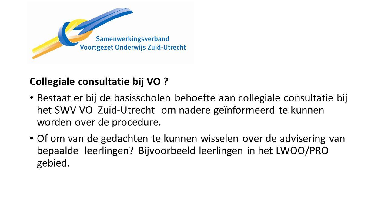 Collegiale consultatie bij VO .