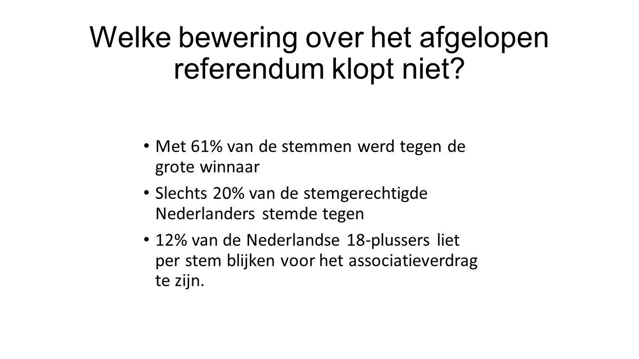Welke bewering over het afgelopen referendum klopt niet.