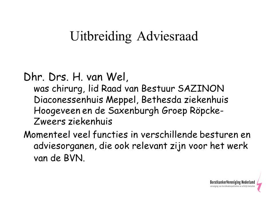 Uitbreiding Adviesraad Dhr. Drs. H.