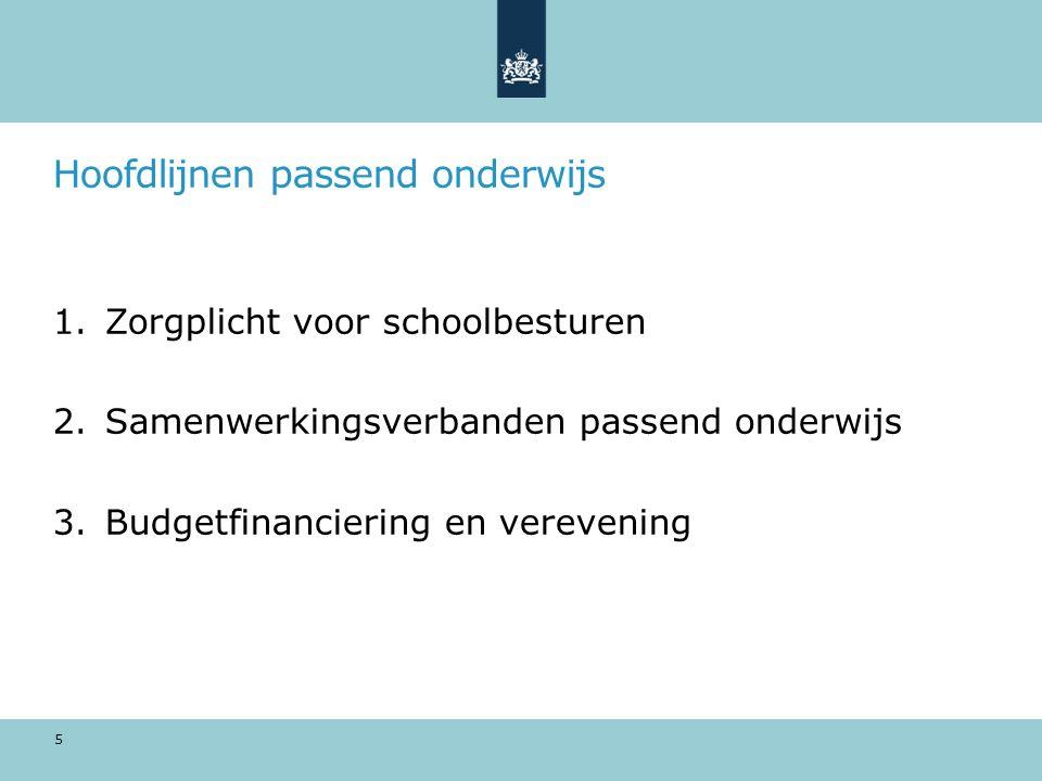 Passend onderwijs per 1 augustus 2014 6
