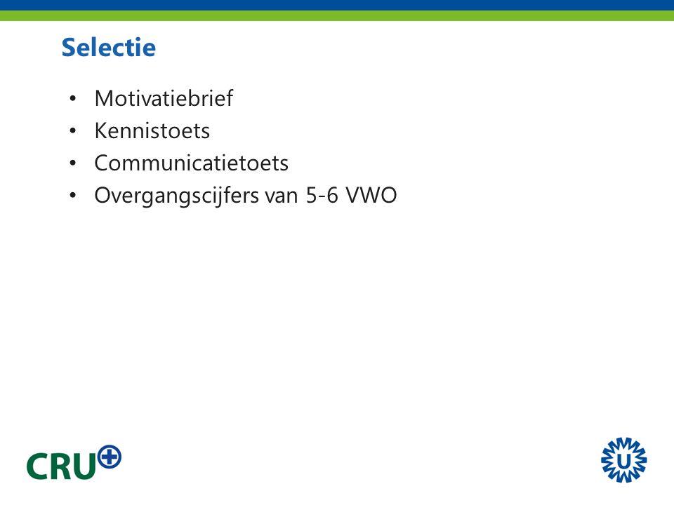 Motivatiebrief Kennistoets Communicatietoets Overgangscijfers van 5-6 VWO Selectie