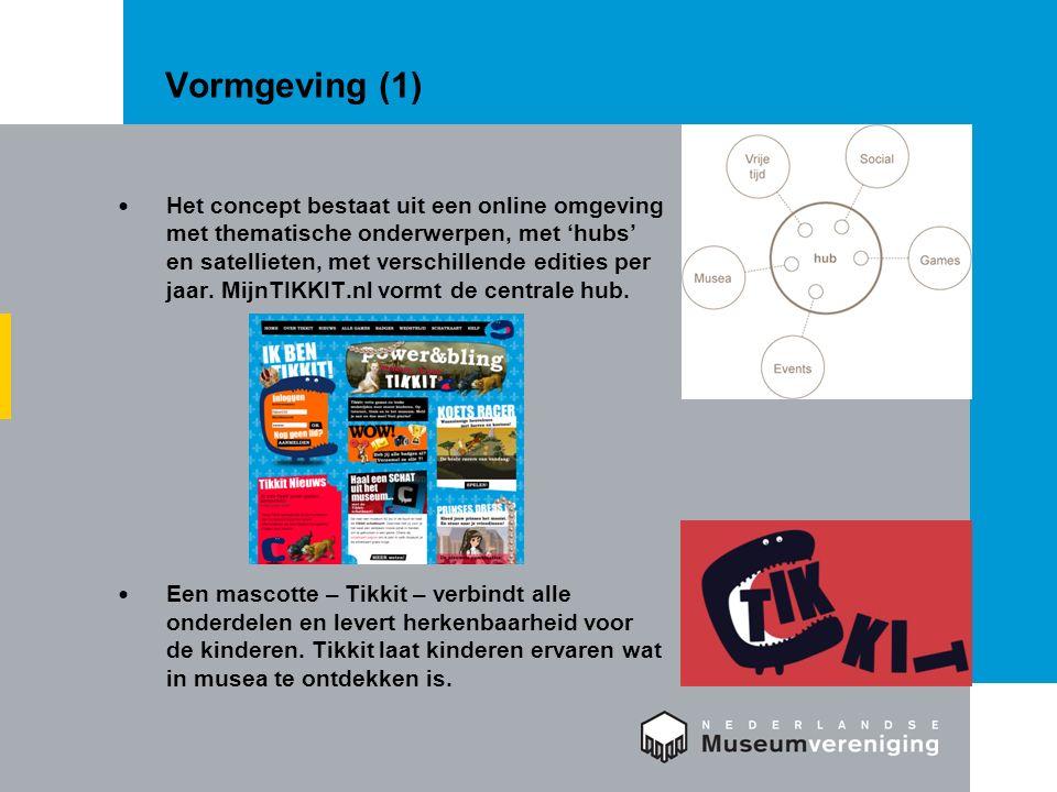 Vormgeving (1) Het concept bestaat uit een online omgeving met thematische onderwerpen, met 'hubs' en satellieten, met verschillende edities per jaar.