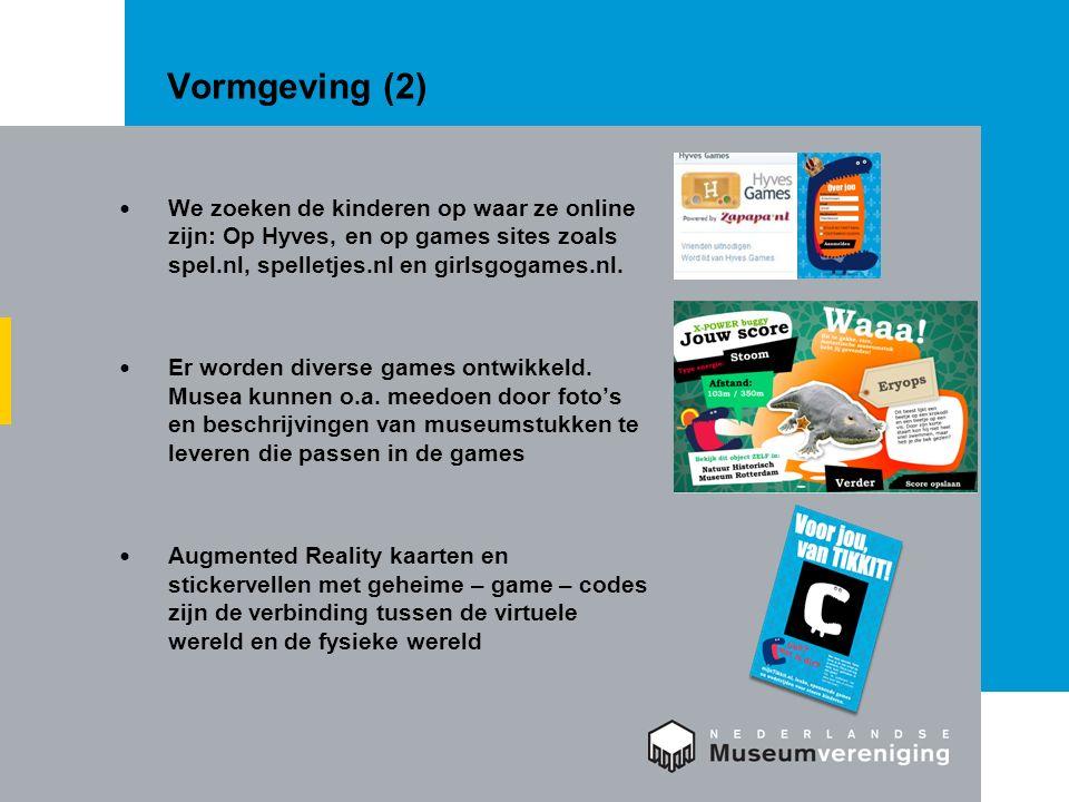Vormgeving (2) We zoeken de kinderen op waar ze online zijn: Op Hyves, en op games sites zoals spel.nl, spelletjes.nl en girlsgogames.nl.