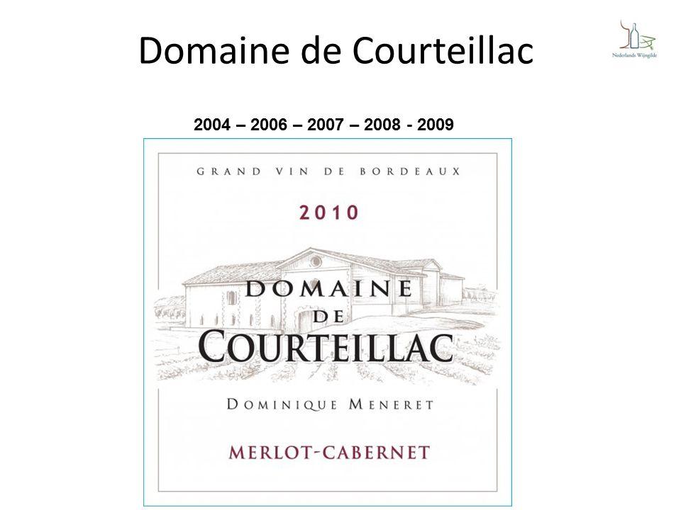 Domaine de Courteillac 2004 – 2006 – 2007 – 2008 - 2009