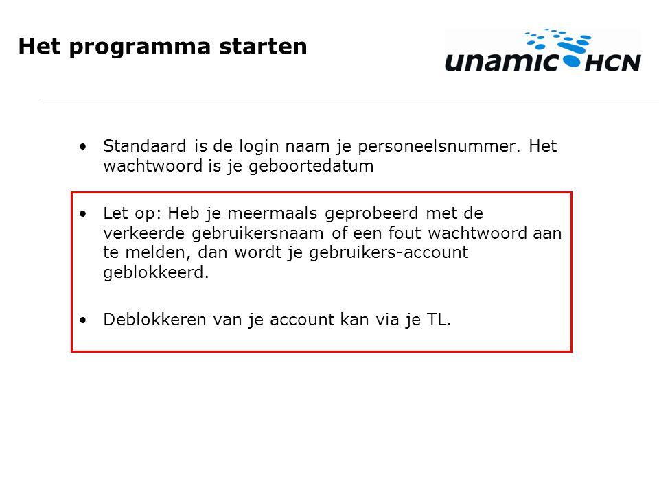 Programma starten Op www.werkenbijunamic.nl/mijnrooster heb je twee keuzes.www.werkenbijunamic.nl/mijnrooster Je kan naar het onderdeel voor rooster, verlof en ruilen gaan of naar het onderdeel om je beschikbaarheid te bekijken en/of aan te passen.