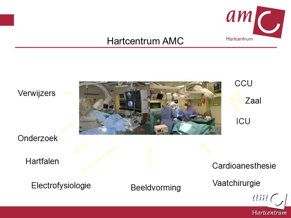 Cardioanesthesie Beeldvorming ICU CCU Onderzoek Verwijzers Hartcentrum AMC Vaatchirurgie Zaal Hartfalen Electrofysiologie