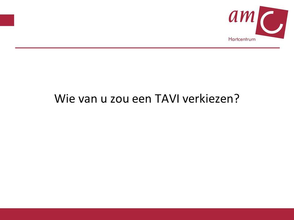 Wie van u zou een TAVI verkiezen?