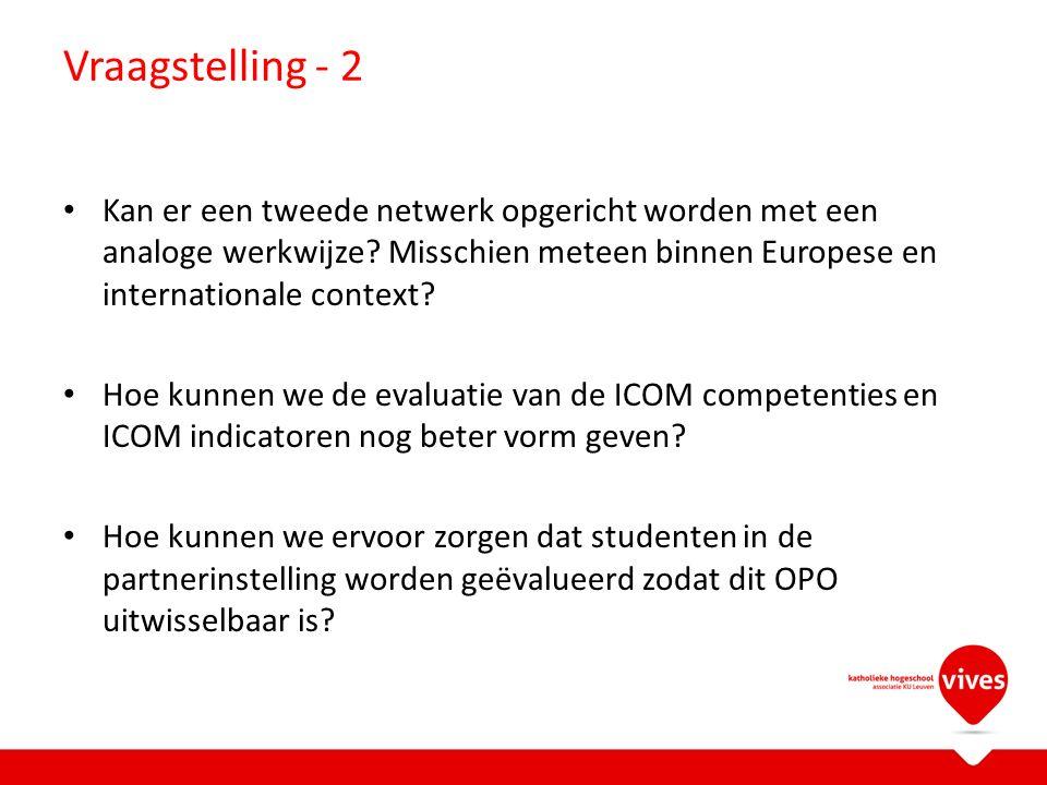 Vraagstelling - 2 Kan er een tweede netwerk opgericht worden met een analoge werkwijze.