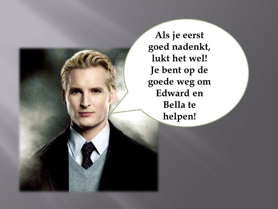 Als je eerst goed nadenkt, lukt het wel! Je bent op de goede weg om Edward en Bella te helpen!