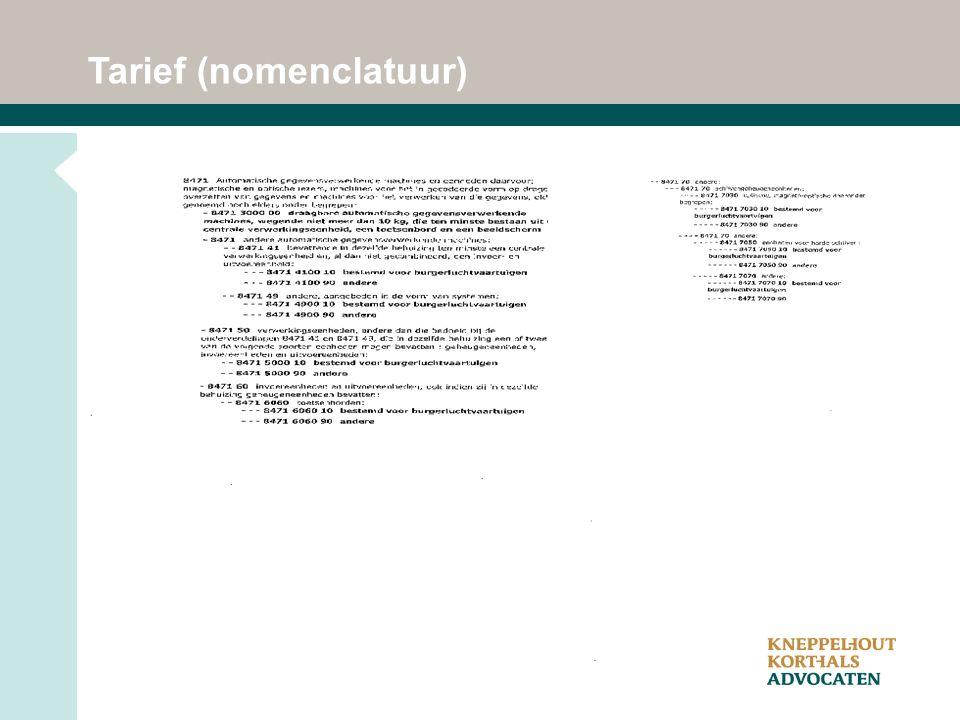 Tarief (nomenclatuur)