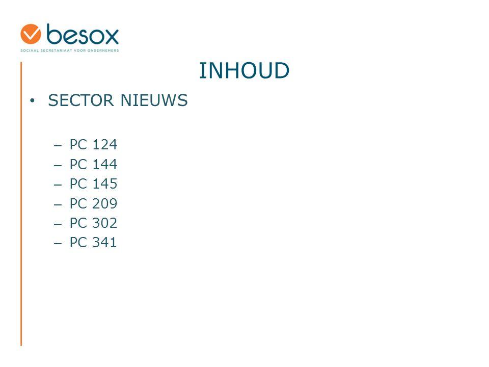 INHOUD SECTOR NIEUWS – PC 124 – PC 144 – PC 145 – PC 209 – PC 302 – PC 341