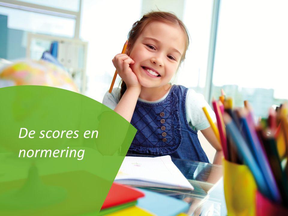 De scores en normering