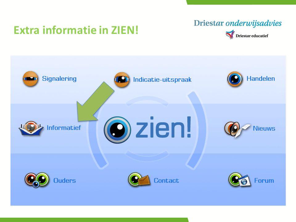 Extra informatie in ZIEN!