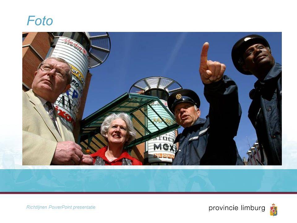 Richtlijnen PowerPoint presentatie Foto