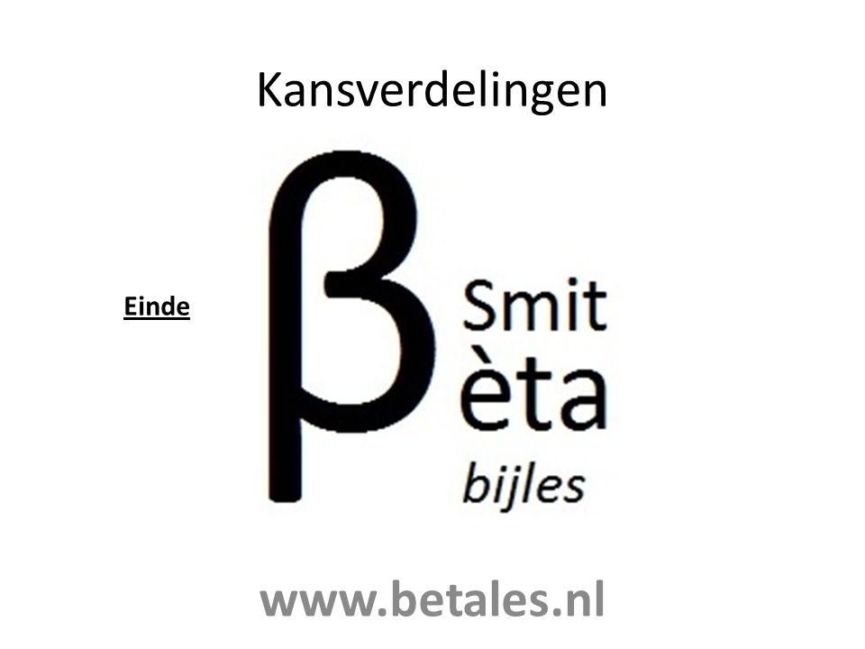 Kansverdelingen Einde www.betales.nl