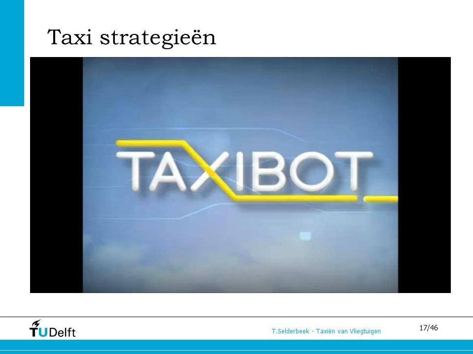 17/46 T.Selderbeek - Taxiën van Vliegtuigen Taxi strategieën C – Taxibot