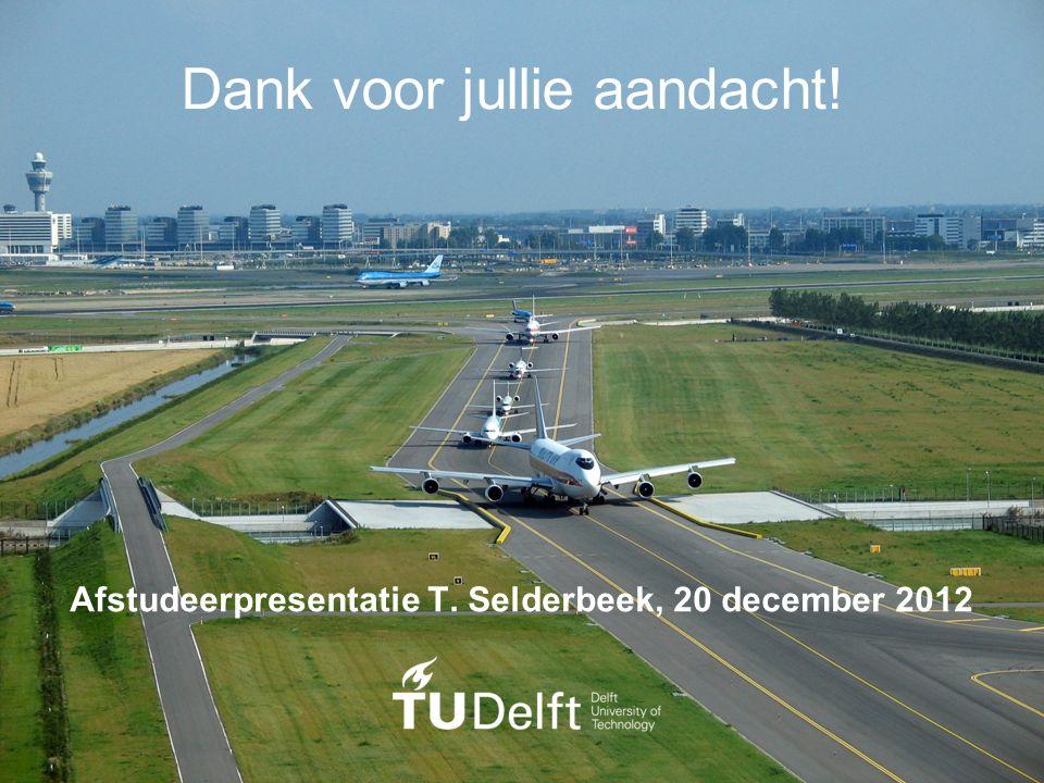 46/46 T.Selderbeek - Taxiën van Vliegtuigen Dank voor jullie aandacht! Afstudeerpresentatie T. Selderbeek, 20 december 2012