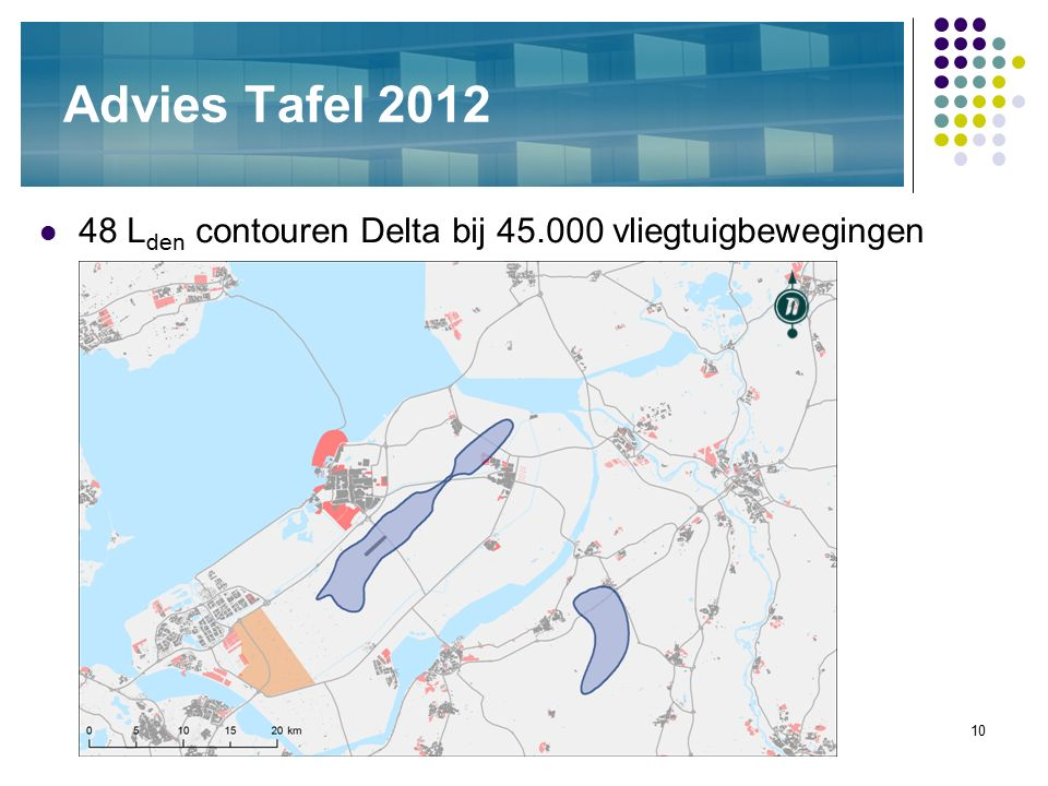 10 Advies Tafel 2012 48 L den contouren Delta bij 45.000 vliegtuigbewegingen
