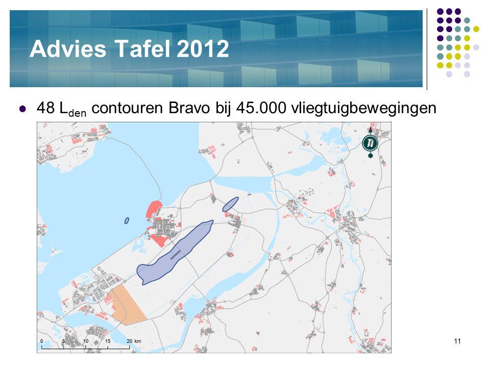 11 Advies Tafel 2012 48 L den contouren Bravo bij 45.000 vliegtuigbewegingen