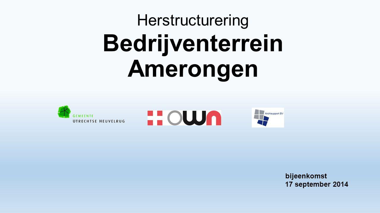Herstructurering Bedrijventerrein Amerongen 17 september 2014 bijeenkomst
