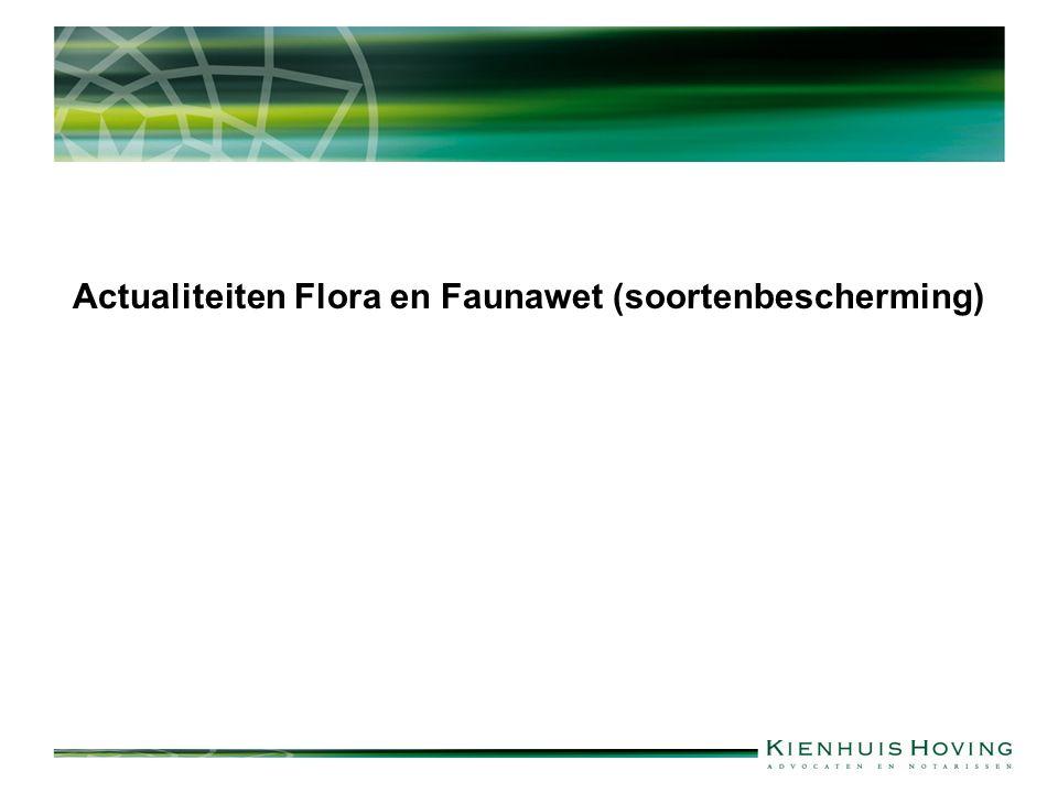 Actualiteiten Flora en Faunawet (soortenbescherming)