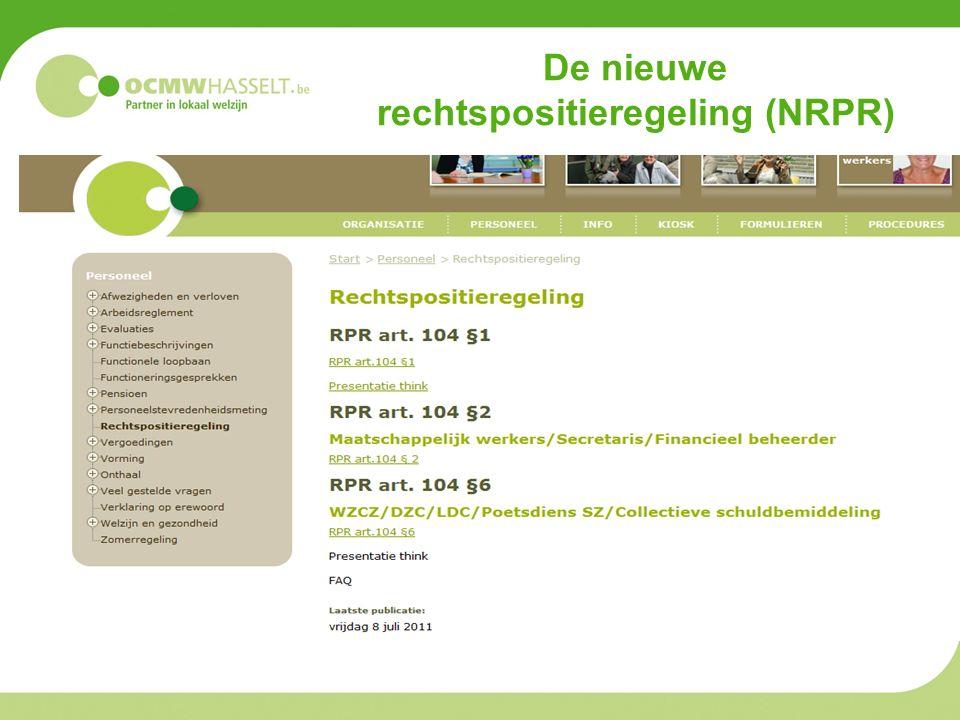De nieuwe rechtspositieregeling (NRPR)