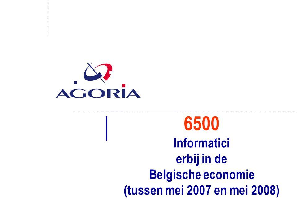 6500 Informatici erbij in de Belgische economie (tussen mei 2007 en mei 2008)
