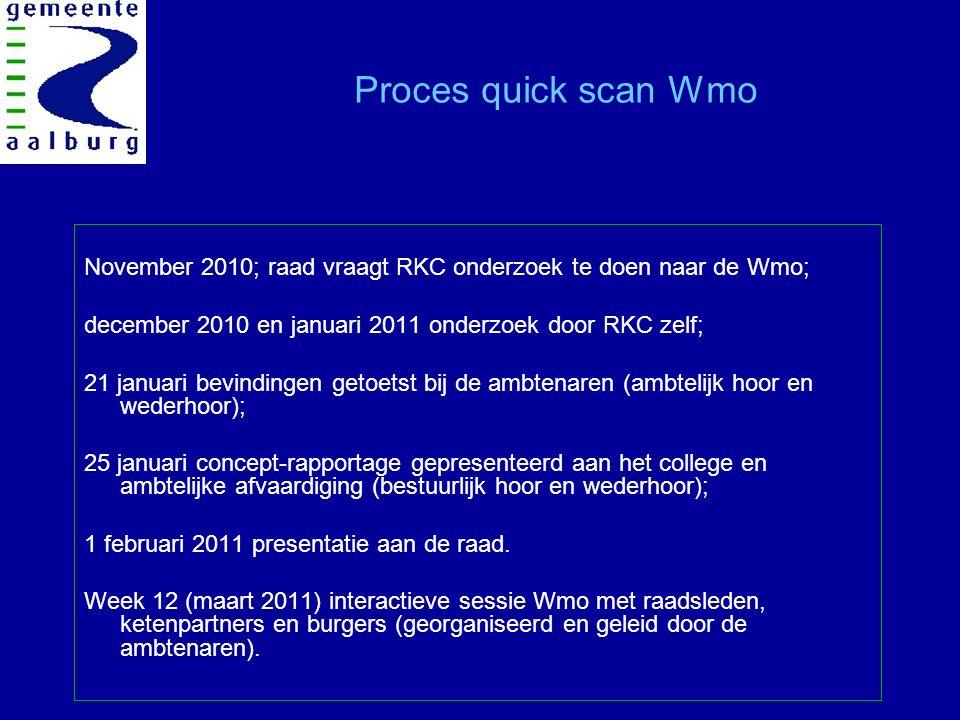 Introductie Wmo op hoofdlijnen Start Wmo op 1 januari 2007  Taken overgeheveld van rijk naar gemeente Gemeente voert regie en is eindverantwoordelijk;  Doel: Maatschappelijke participatie en zelfredzaamheid van burgers bevorderen.