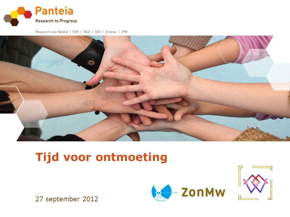 27 september 2012 Tijd voor ontmoeting