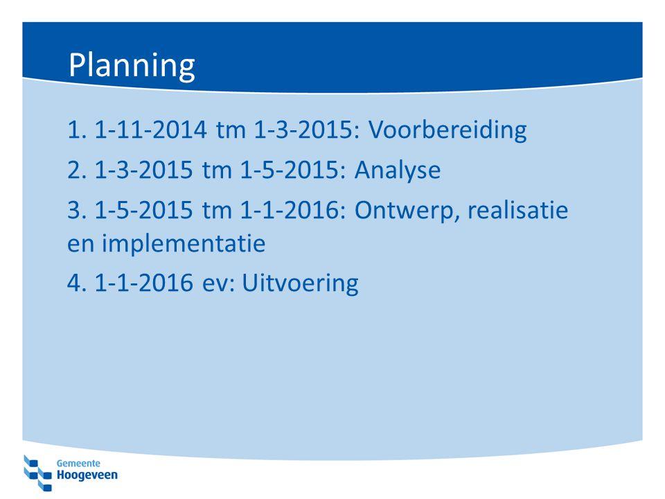Planning 1.1-11-2014 tm 1-3-2015: Voorbereiding 2.